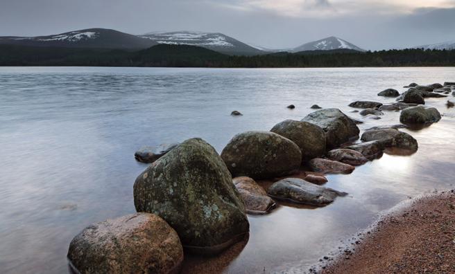 Dawn breaking over Loch Morlich