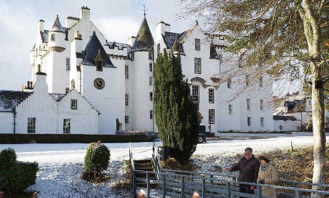 The beautiful Blair Castle, where the letter was found during conservation works over winter.