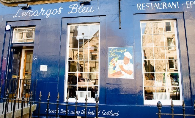 L'escargot bleu, Edinburgh