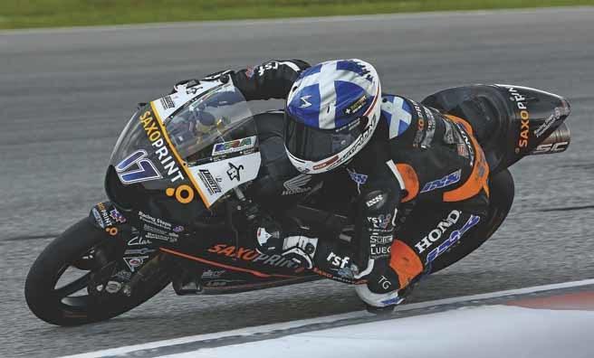 Motorcycle racer John McPhee. Photography Racing Steps Foundation