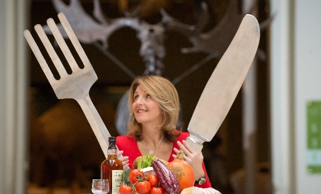 Kaye Adams at the launch of the Scotland Food and Drink Excellence Awards 2015