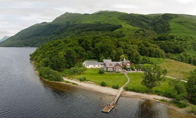 Rowardennan Youth Hostel, on the banks of Loch Lomond