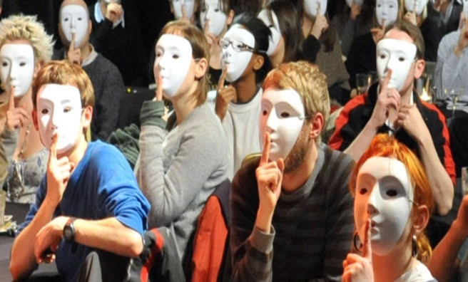 Edinburgh Secret Society - so secretive, masks are sometimes compulsory
