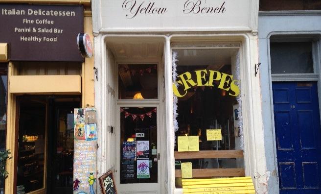 The Yellow Bench Café on Leith Walk