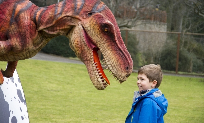 Velma The Velociraptor says hello to Euan Morrison from Aberdeen