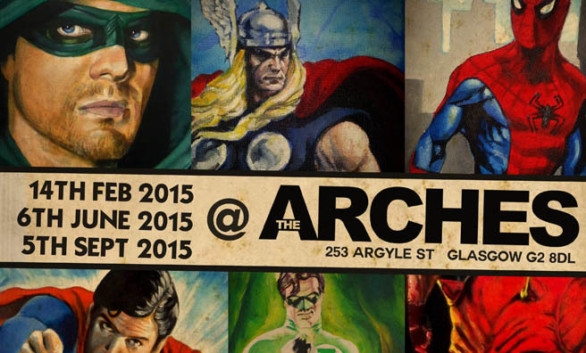 It's all things comic and craft at The Arches, Glasgow.