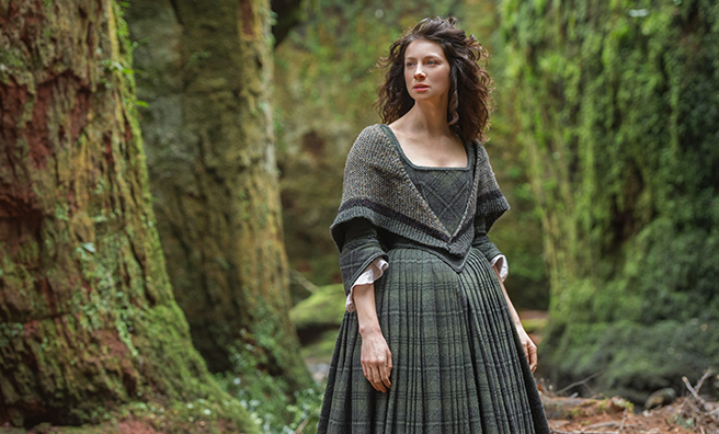 Claire Randall, played by Caitriona Balfe.