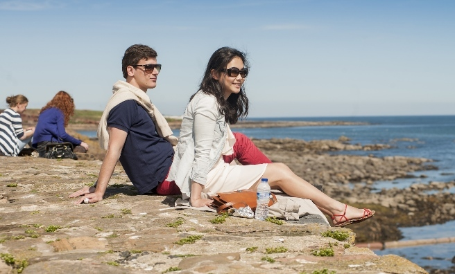 Relaxing in the sun at Crail Food Festival
