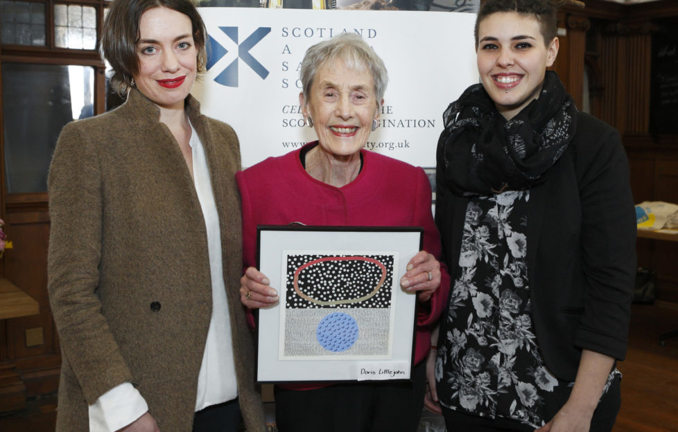Doris Littlejohn (Centre) is inducted into the OWS list.
