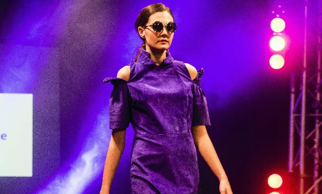 On the catwalk at Edinburgh's first Fashion Week. Photo by Yemi King