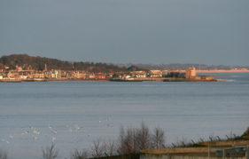 Looking across the estuary to Broughty Ferry