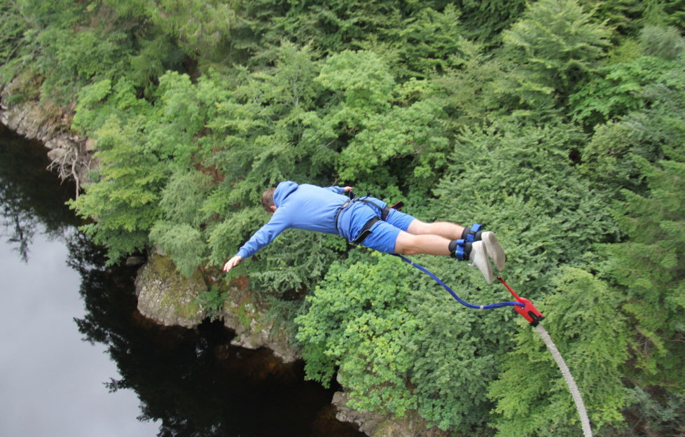 The Highland Fling bungee jump at Killiecrankie