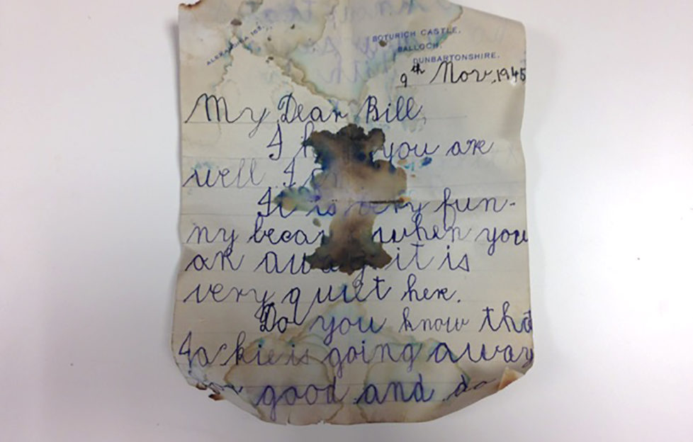 The 70-year-old letter clearly shows a child's handwriting