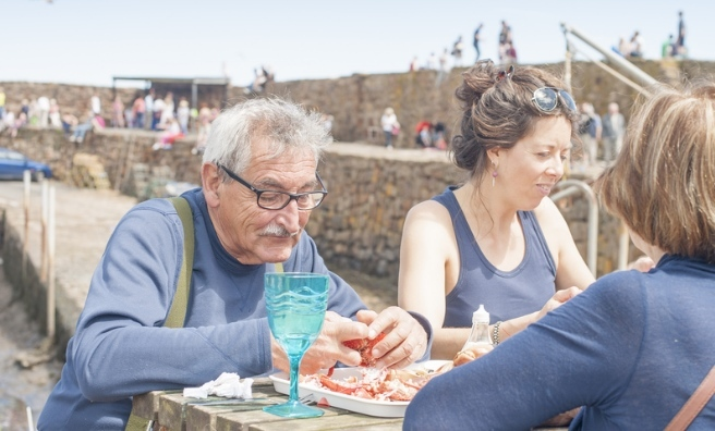 The iconic Lunch At The Harbour is a must-do at Crail Food Festival