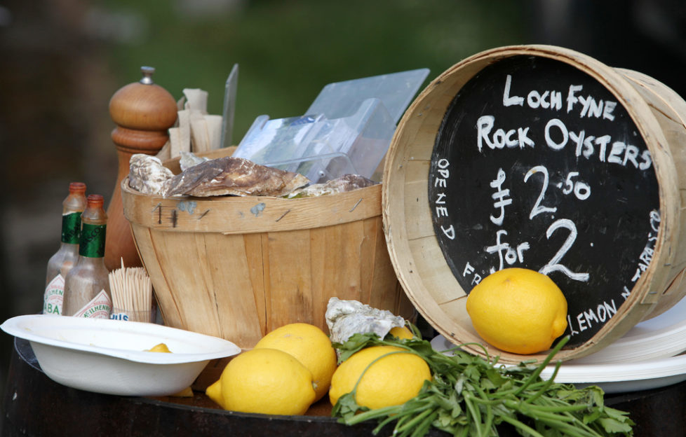 Oysters and cocktails are on the menu at the Loch Fyne Food Fair