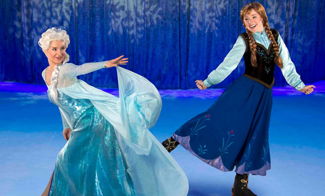 Anna and Elsa join Disney on Ice