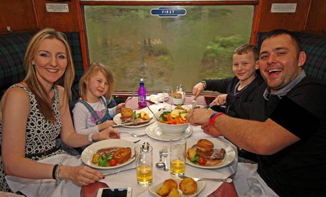 Enjoy a family lunch for Mother's Day aboard a steam engine.