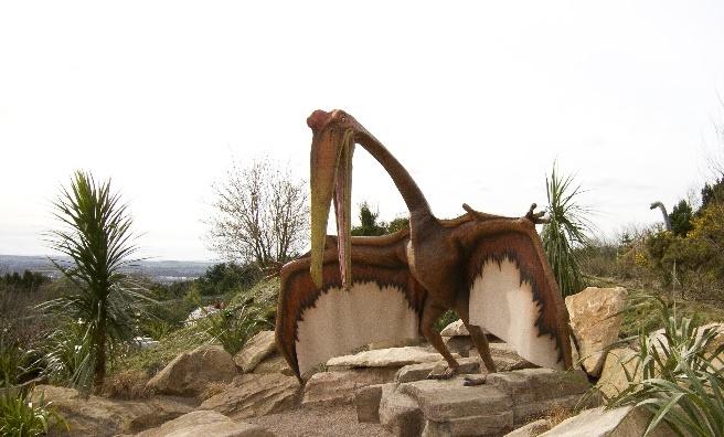 The Edinburgh skyline takes on a prehistoric aspect! Photo copyright RZSS