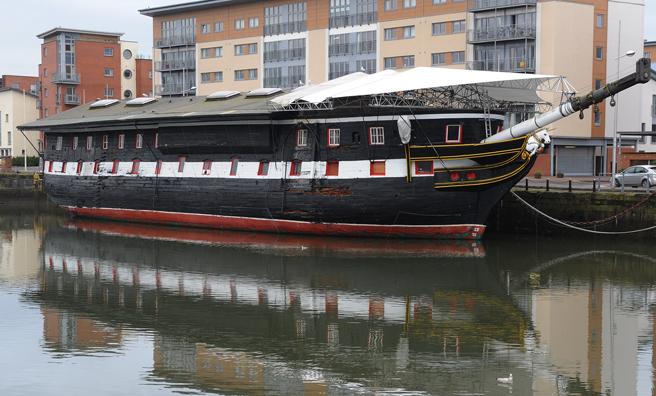 The Frigate Unicorn at Victoria Dock