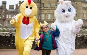 A young visitor enjoying the Easter activities at NTS property Culzean Castle. IMAGES BY LENNY WARREN