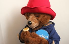 Action Medical Research mascot, Paddington Bear™, likes his scones piled high with marmalade