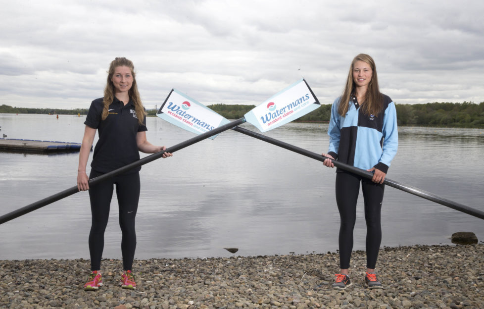 Members of Glasgow and Edinburgh Universities, ready to take to the water for Saturday's Boat Race