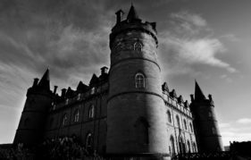 Inverary Castle, another of Scotland's haunted homes.