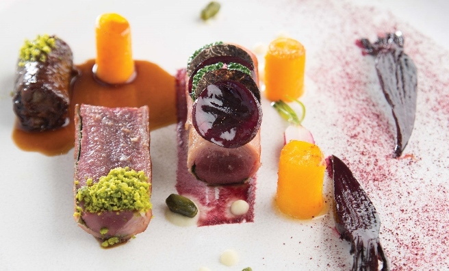 Rocca's Perthshire Saddle of Hare, Cabbage, Civit Sauce is one of the many recipes in Relish Scotland Third Helping