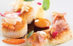 Rocca's Roasted Ardnamurchan Scallops, Blood Orange, Chicory & Hazelnuts - how good does that look?!