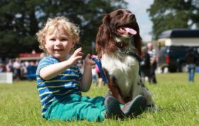 Relaxing in the sun at the GWCT Scottish Game Fair 2015