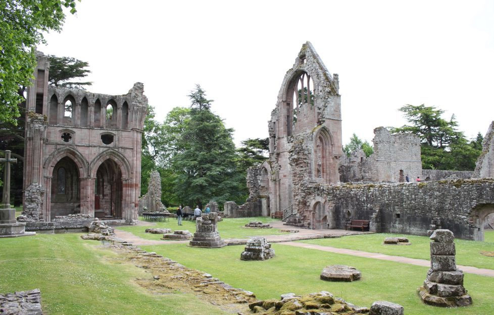 The majestic ruins of Dryburgh Abbey