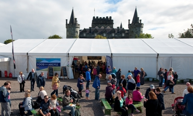 Inverary Castle overlooks proceedings at Best of the West