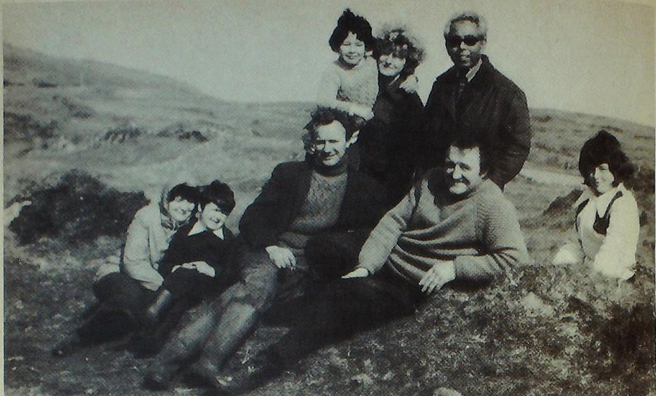 A group of Gigha islanders