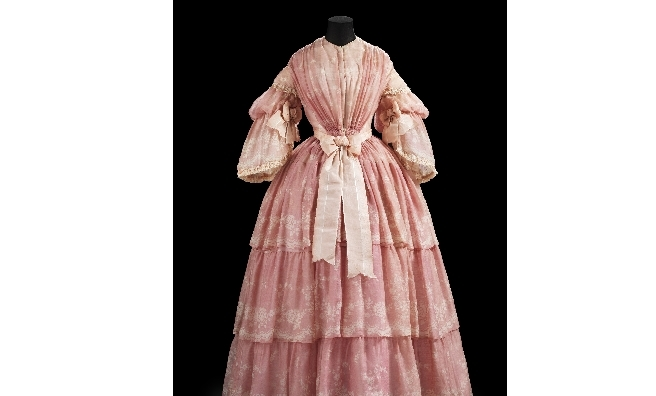 One of the many beautiful dresses on display at A Century of Style: Costume and Colour 1800-1899. Photo copyright CSG CIC Glasgow Museums Collection