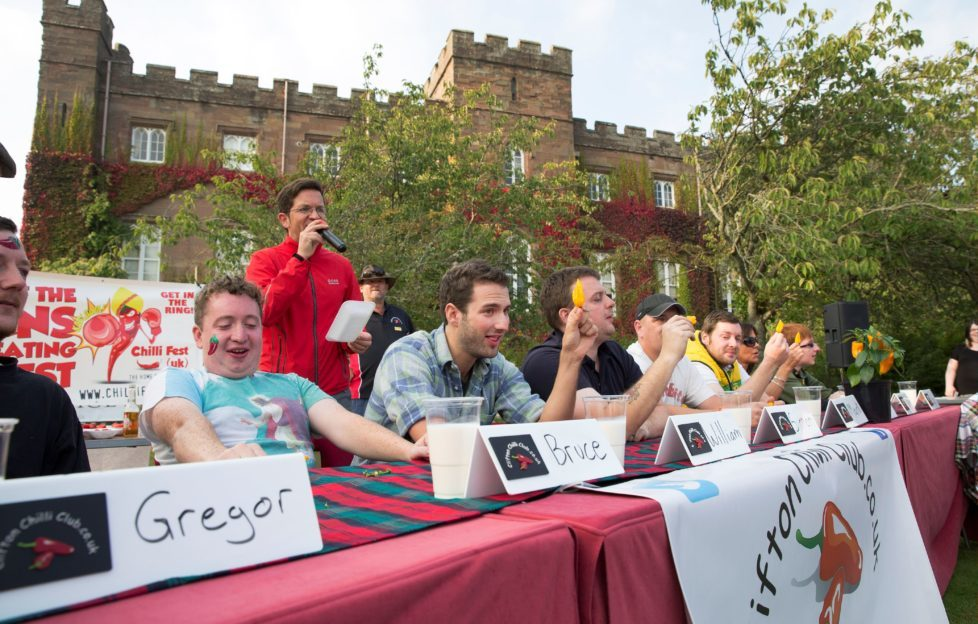 The Chilli Eating Competition at Scone Palace. Rather them than me!