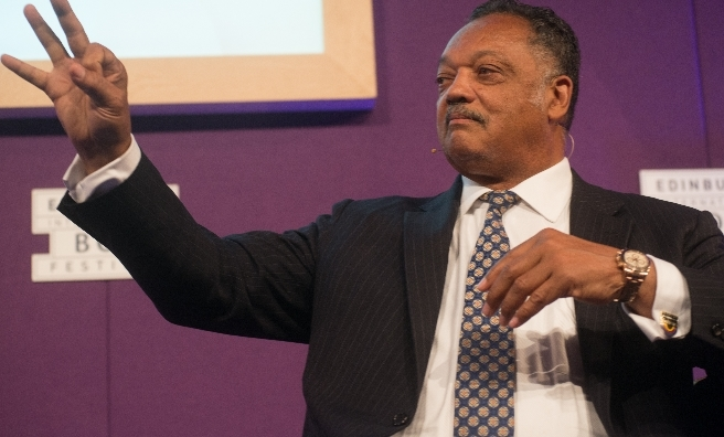 Reverend Jesse Jackson proved very popular. Photo by Alan McCredie, courtesy of Edinburgh International Book Festival