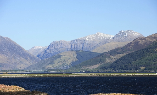 Looking across Ballachulish to the mountains of Glencoe. Photo courtesy of P. Tomkins/VisitScotland/Scottish Viewpoint.