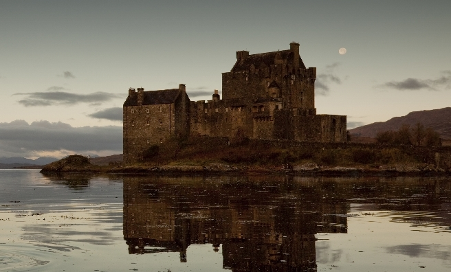 Eilean Donan Castle on the banks of Loch Duich - and also MI5's Scottish HQ. Photo courtesy of Paul Tomkins/VisitScotland.