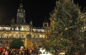 The Christmas Tree at Glasgow's George Square. Photo courtesy of VisitScotland