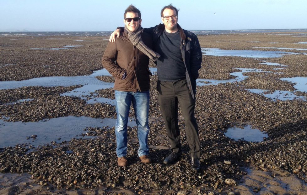 Exploring the West Sands at St Andrews on some well-earned time off