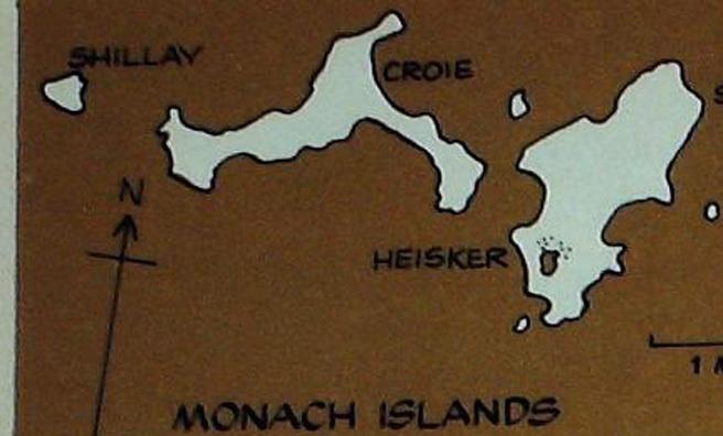 Monach Islands map