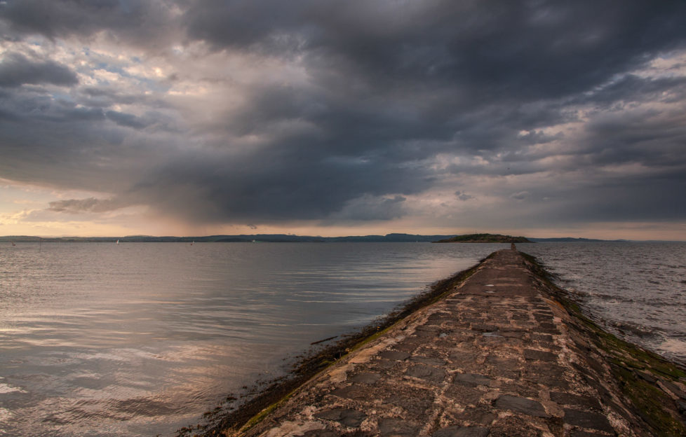 The causeway out to Cramond Island is only accessible at low tide. Pic: Shutterstock