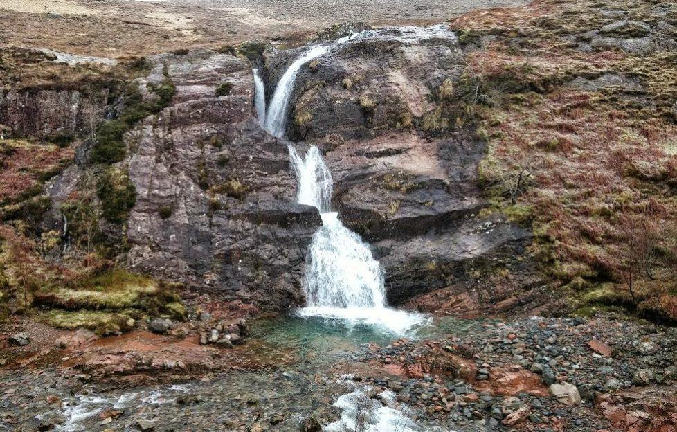 Lairig Eilde Waterfall in Glencoe