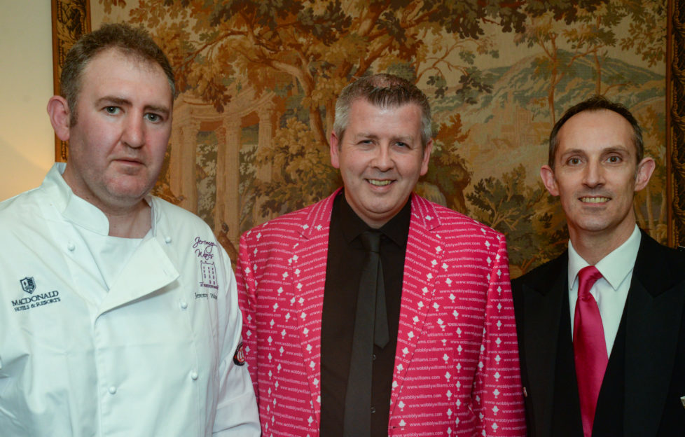 Bryn with chef , Jeremy Wares, and the hotel's General Manager, Herve Bernier