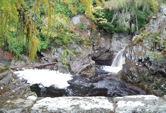 The Falls of Bruar - just a short walk behind the House of Bruar