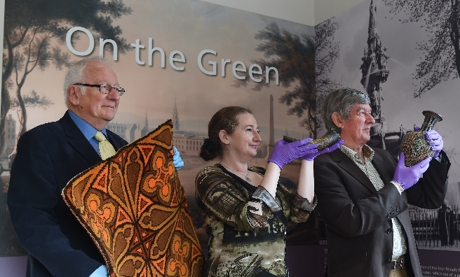 Alan Robertson, Fiona Hayes (Designer and curator of social history with Glasgow Museums) and John Richmond.