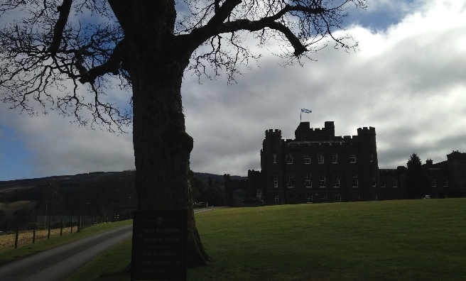 Stobo Castle - the start and finish of our stroll