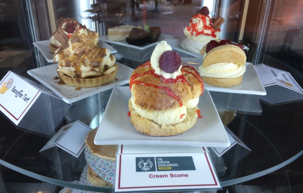 The delicious cake selection in the Duchess Jean Tea Room. Pic: Gordon Highlanders Museum