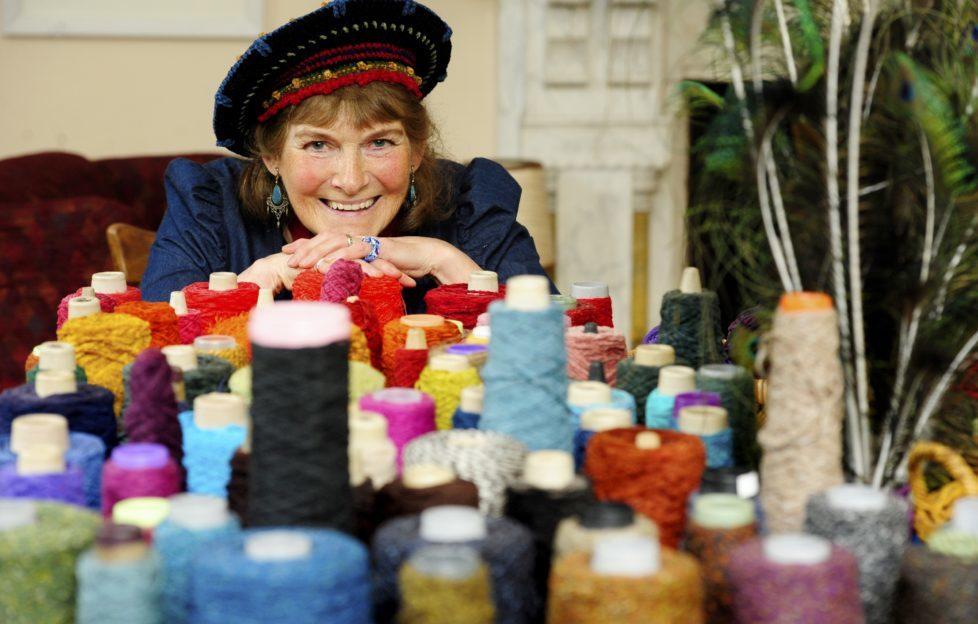 Hat designer Kay Ribbens at this year's Spring Fling. Pic: Colin Hattersley