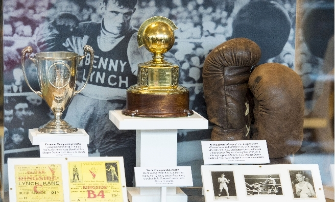 The Benny Lynch display at Gorbals Library